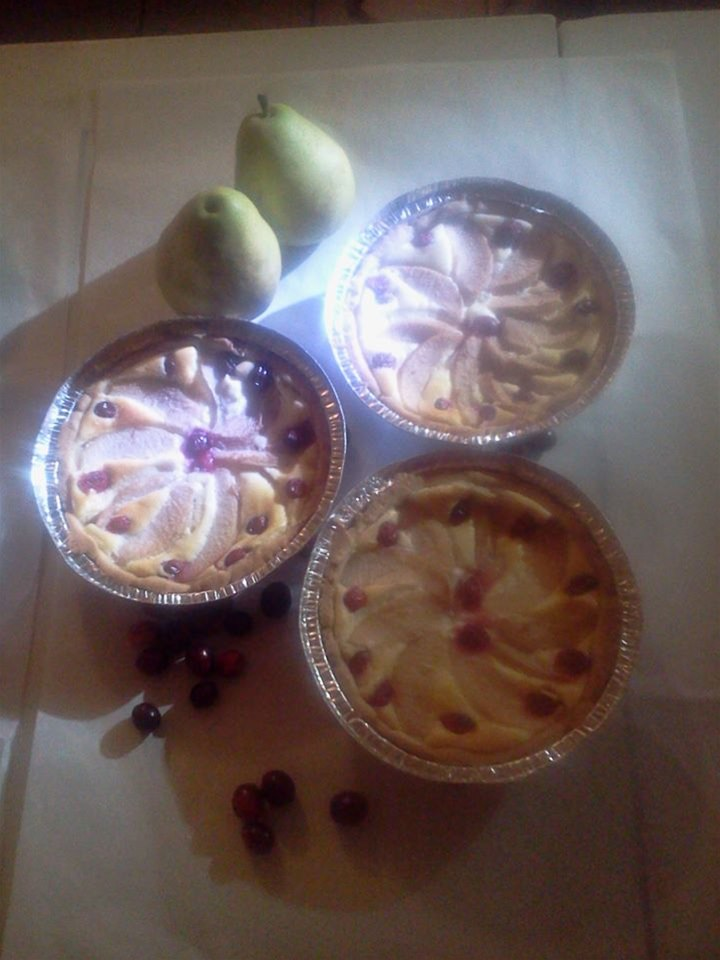 Pear Cranberry Custard Tarts