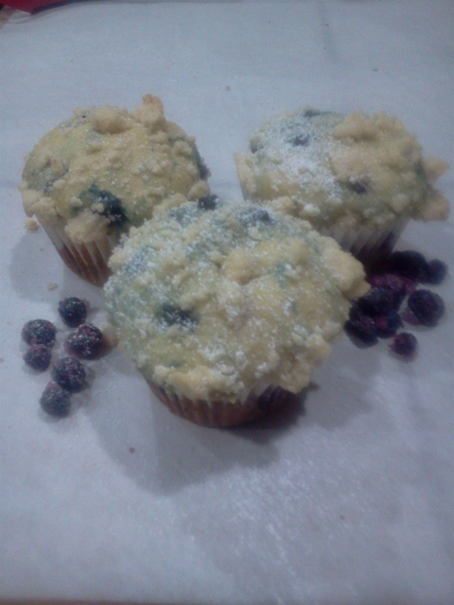 Wild blueberry sourcream muffins
